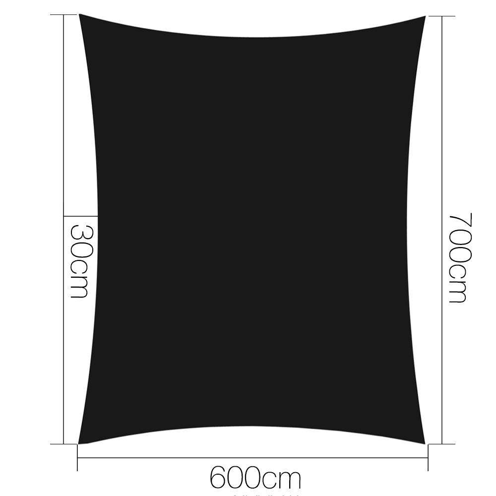 Instahut 280gsm 6x7m Sun Shade Sail Canopy Rectangle