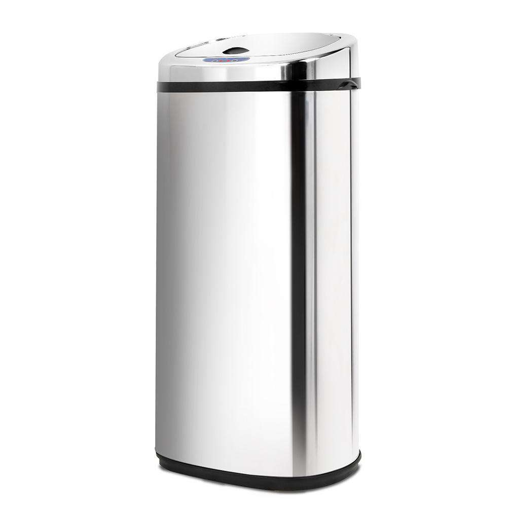 Stainless Steel Motion Sensor Rubbish Bin – 50L - Desirable Home Living
