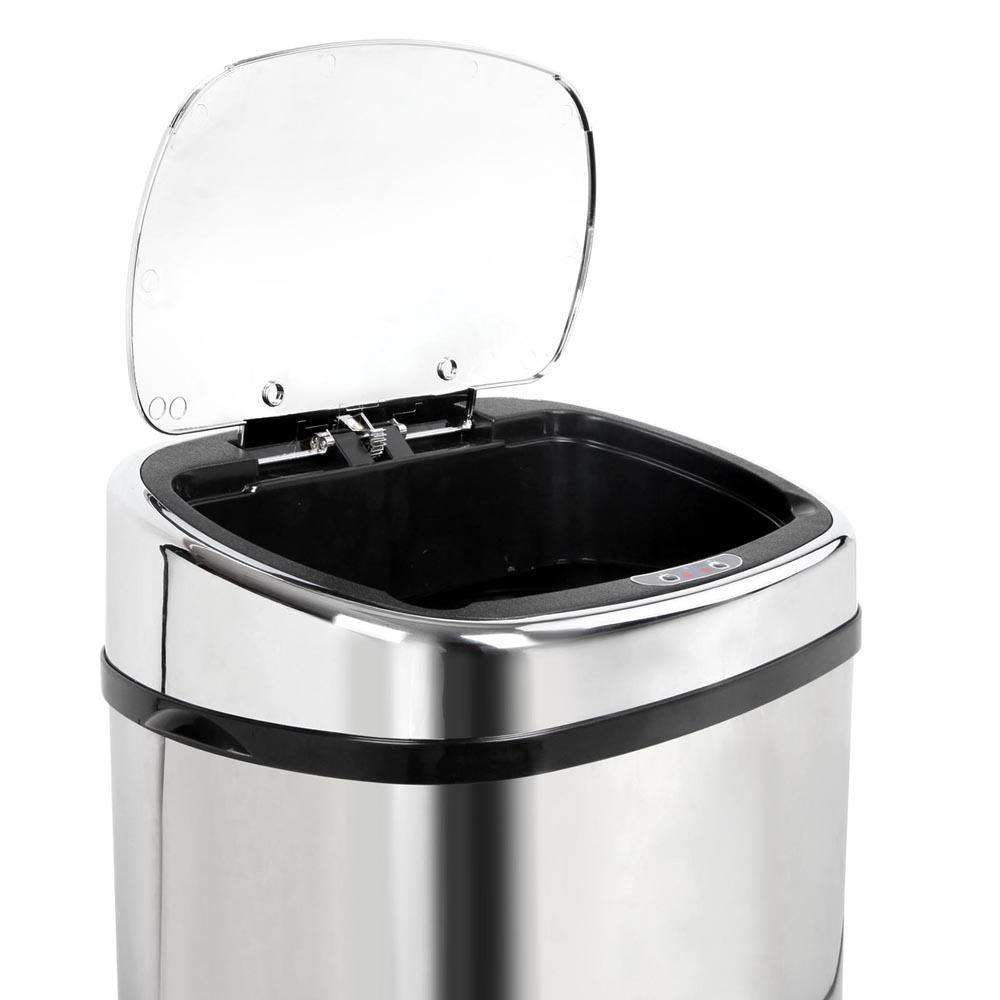 Stainless Steel Motion Sensor Rubbish Bin – 58L - Desirable Home Living