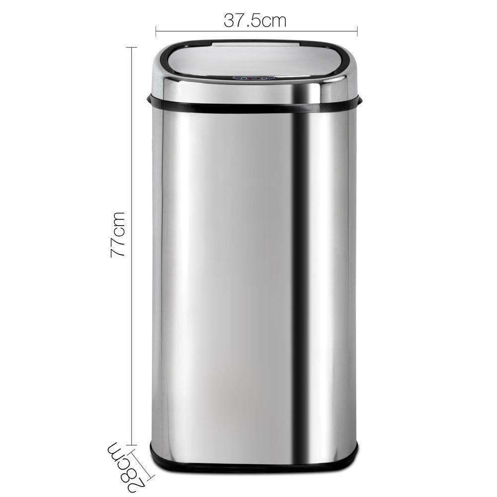 Stainless Steel Motion Sensor Rubbish Bin – 68L - Desirable Home Living
