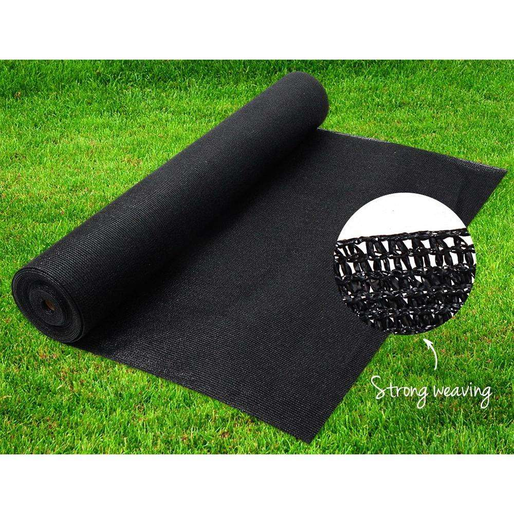 Instahut 50% Sun Shade Cloth Shadecloth Sail Roll Mesh 1.83x10m 100gsm Black