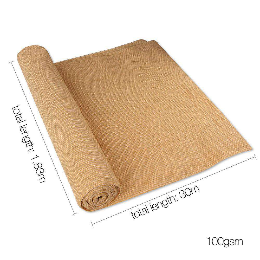 Instahut 1.83 x 30m Shade Sail Cloth - Beige