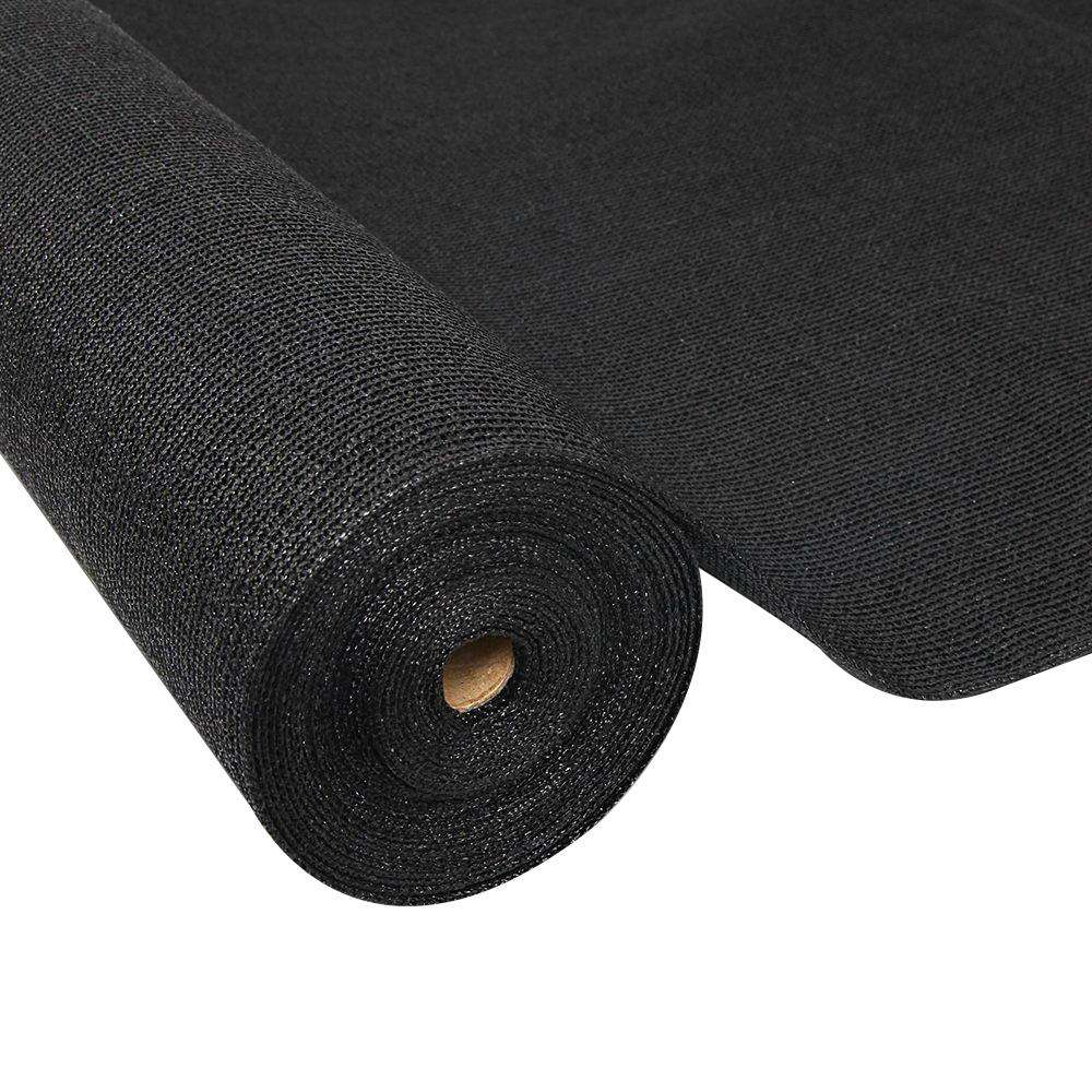 Instahut 70% UV Sun Shade Cloth Shadecloth Sail Roll Mesh Garden Outdoor 1.83x50m Black