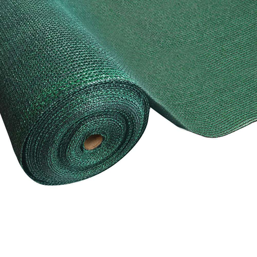 Instahut 50% Sun Shade Cloth Shadecloth Sail Roll Mesh 3.66x10m 100gsm Green