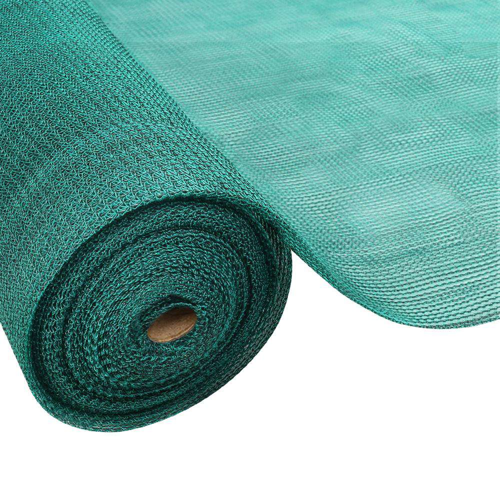Instahut 3.66x10m 50% UV Shade Cloth Shadecloth Sail Garden Mesh Roll Outdoor Green