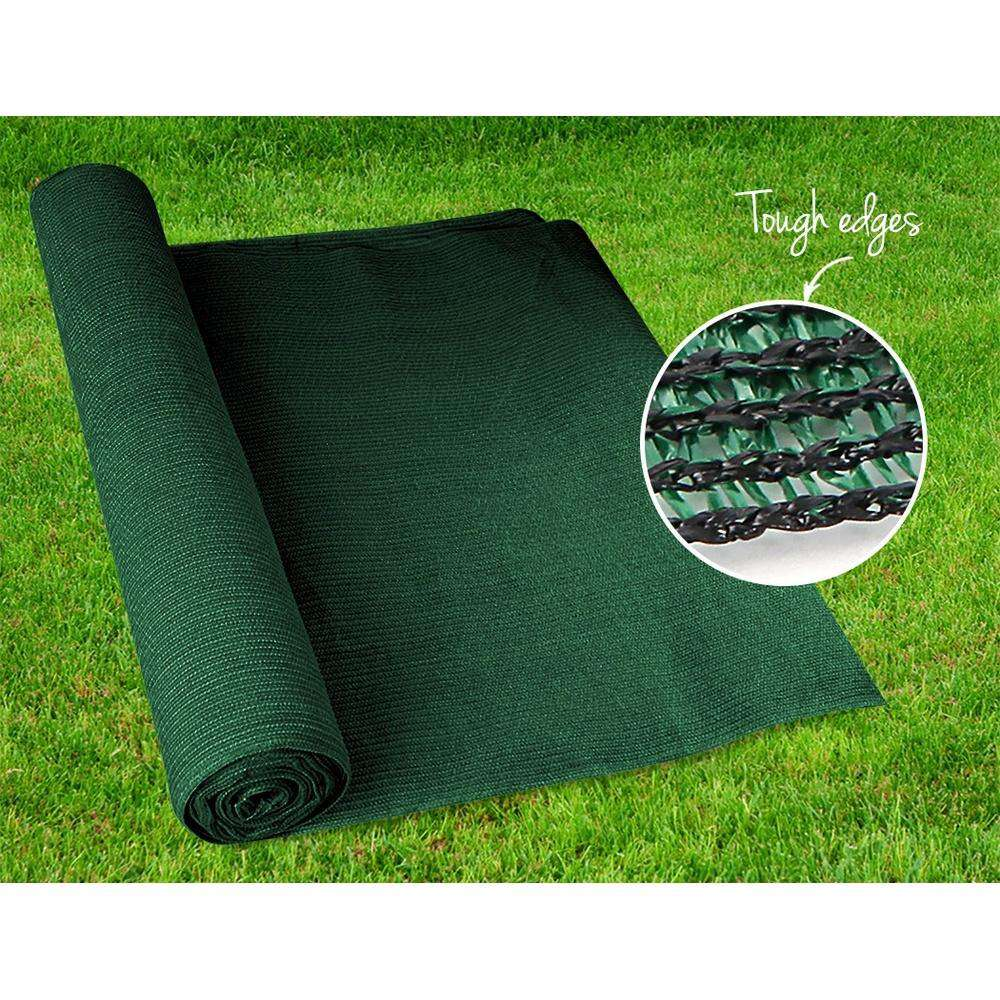 Instahut 90% Sun Shade Cloth Shadecloth Sail Roll Mesh 3.66x20m 195gsm Green