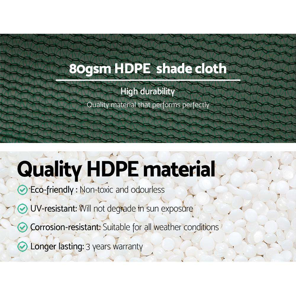 Instahut 3.66x20m 30% UV Shade Cloth Shadecloth Sail Garden Mesh Roll Outdoor Green