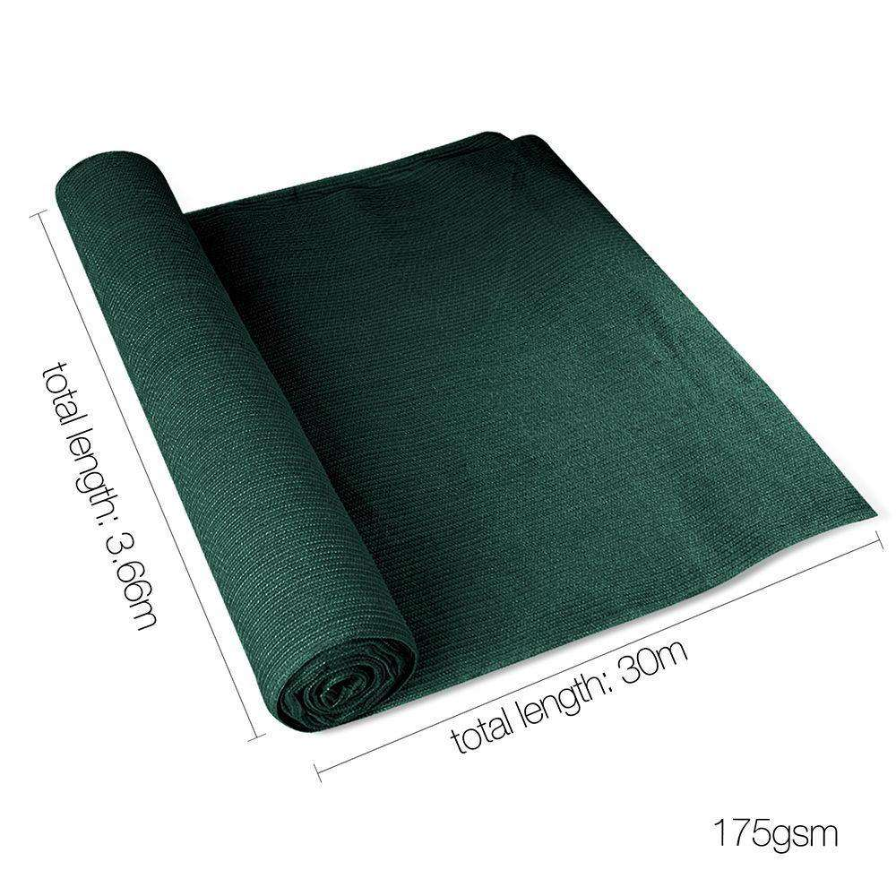Instahut 3.66 x 30m Shade Sail Cloth - Greem