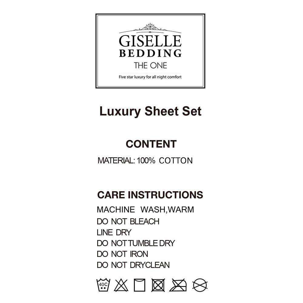 4 Piece Cotton Bed Sheet Set Queen Grey - Desirable Home Living