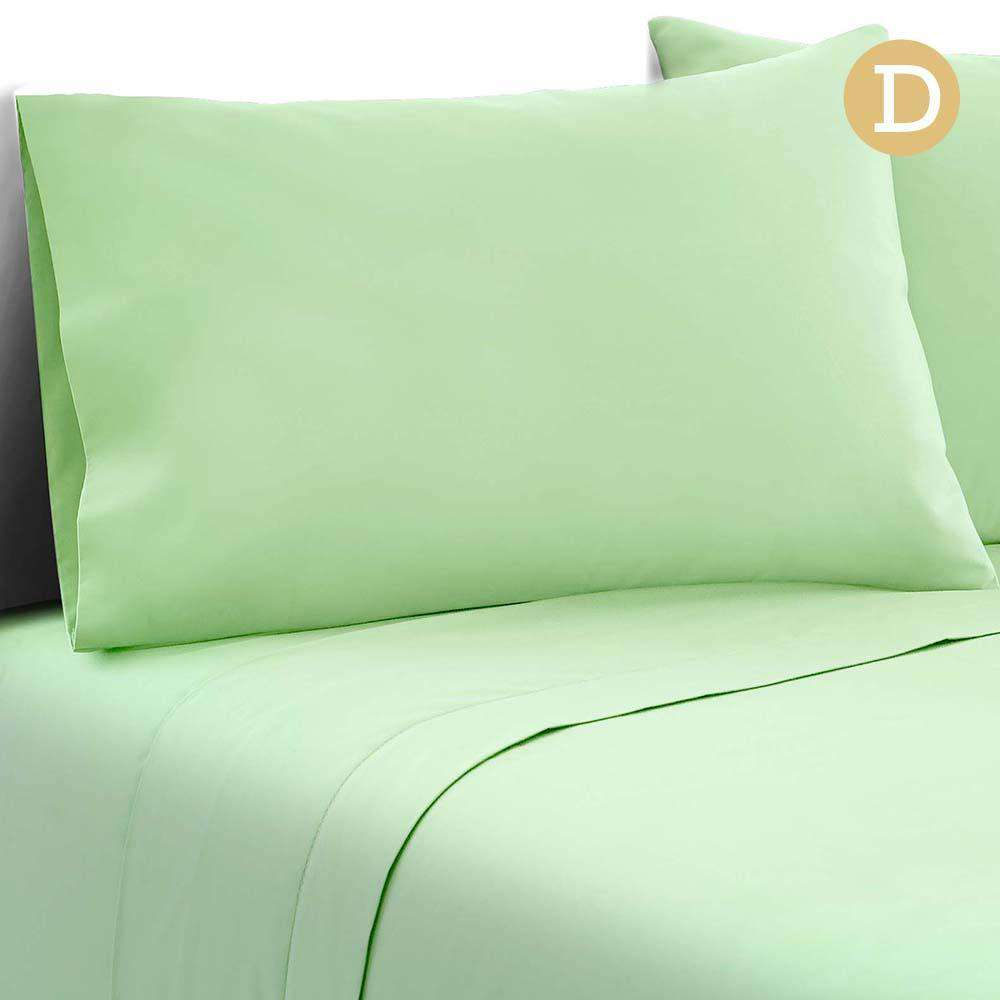 4 Piece Microfibre Sheet Set Double– Green