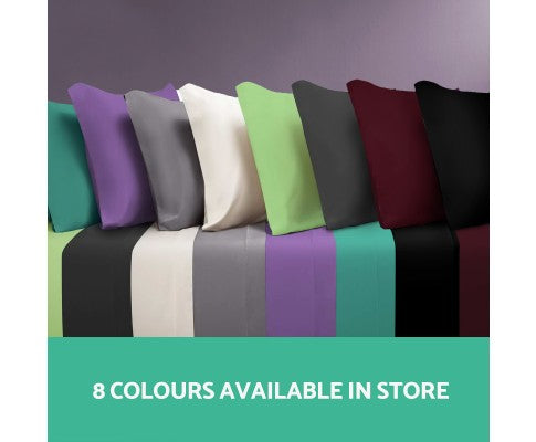 Giselle Bedding Double Burgundy 4pcs Bed Sheet Set