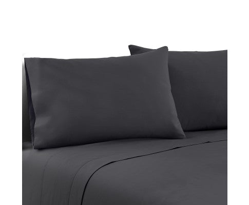 Giselle Bedding Double Charcoal 4pcs Bed Sheet Set