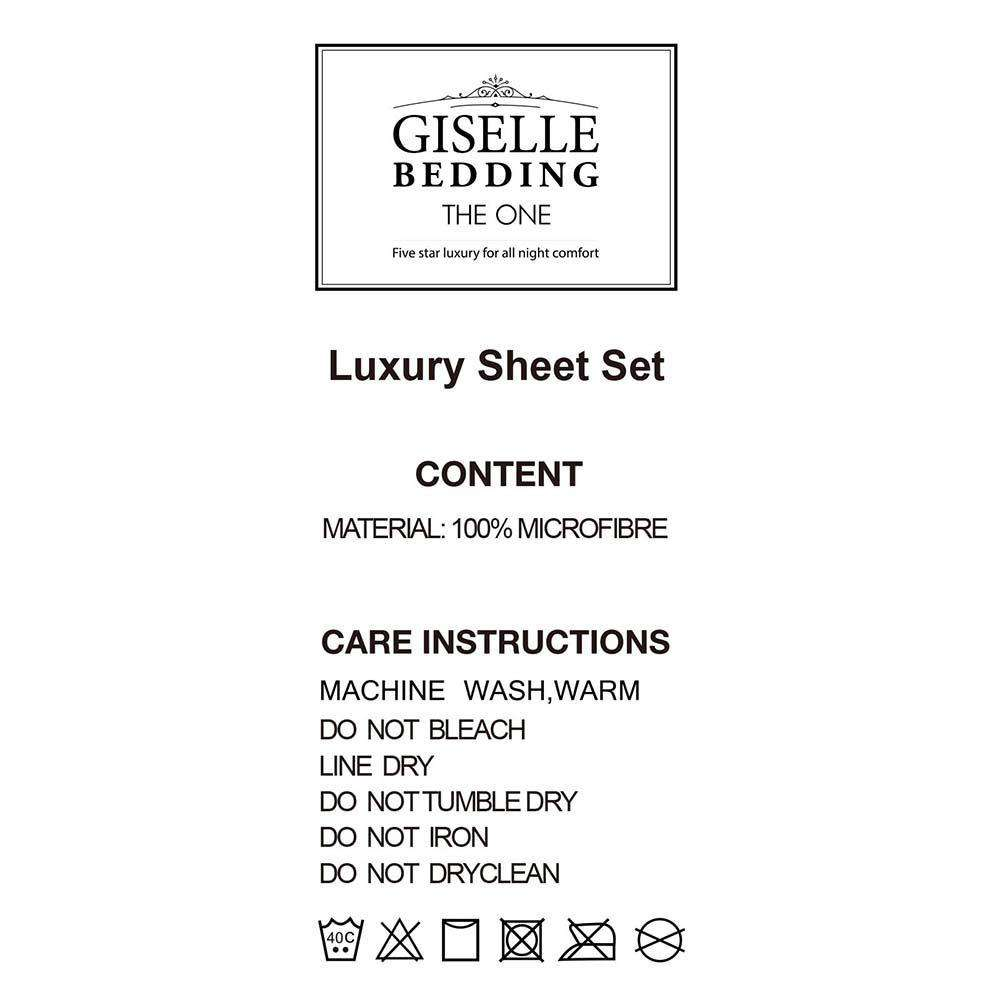 4 Piece Microfibre Sheet Set King –  Grey - Desirable Home Living