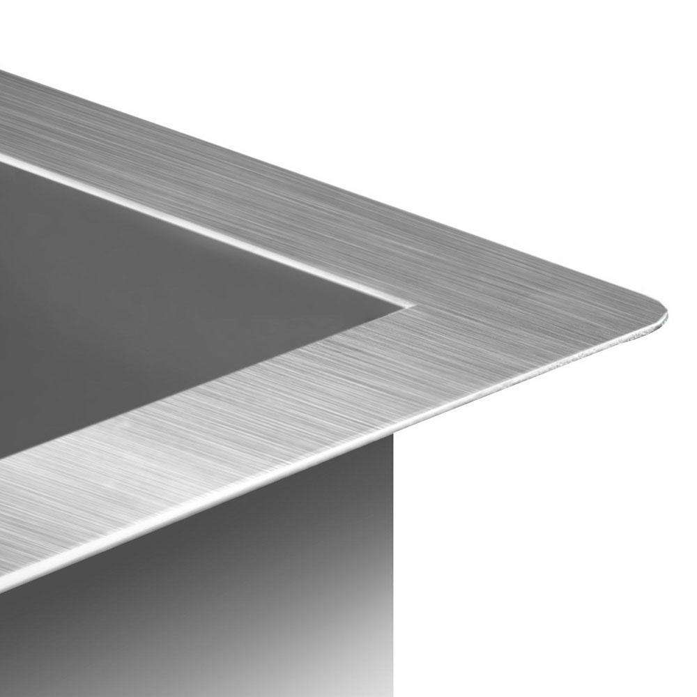 Stainless Steel Kitchen Laundry Sink with Strainer Waste 450 x 300mm - Desirable Home Living