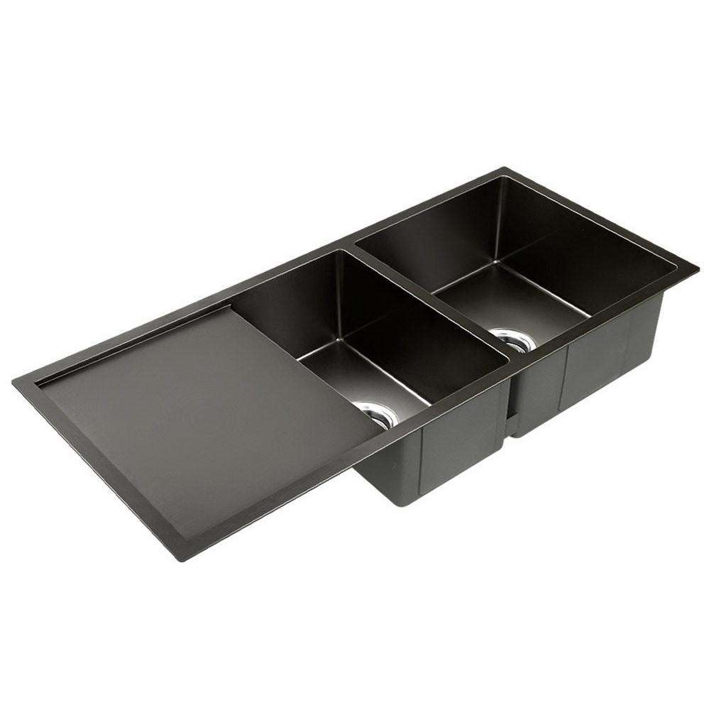 Nano Stainless Steel Sink Silver Black