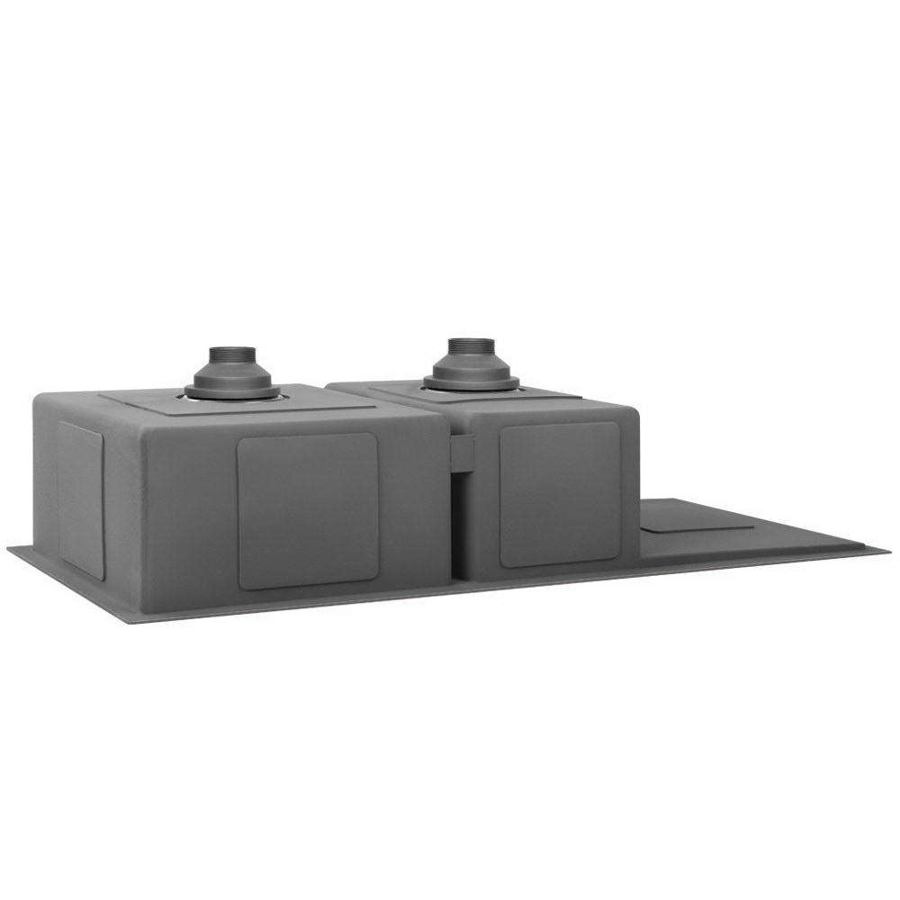 Nano Stainless Steel Sink Silver Black - Desirable Home Living