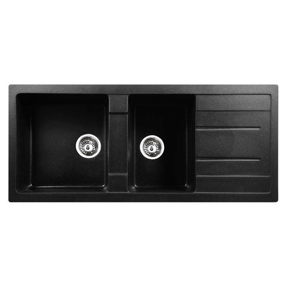 Stone Kitchen Sink Black 1160x500 - Desirable Home Living