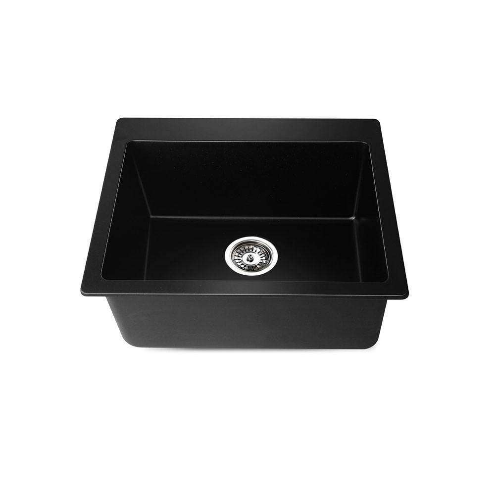 Stone Kitchen Sink Black 570x500 - Desirable Home Living