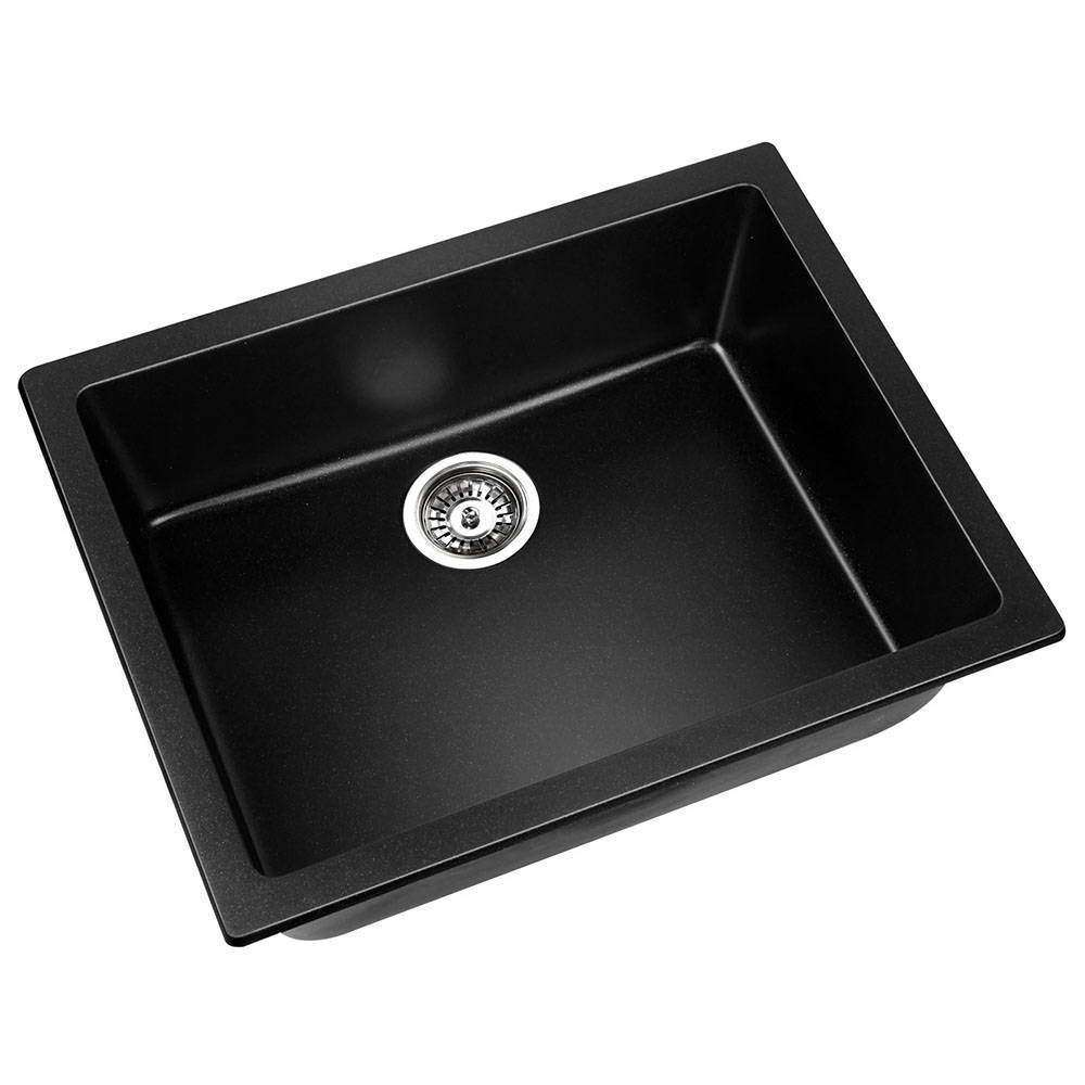 Stone Kitchen Sink Black 610x470