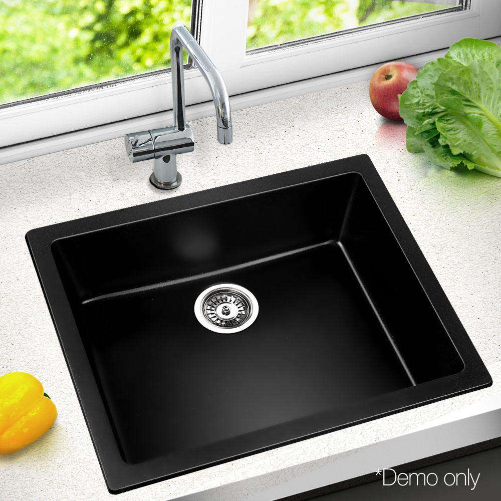 Stone Kitchen Sink Black 610x470 - Desirable Home Living