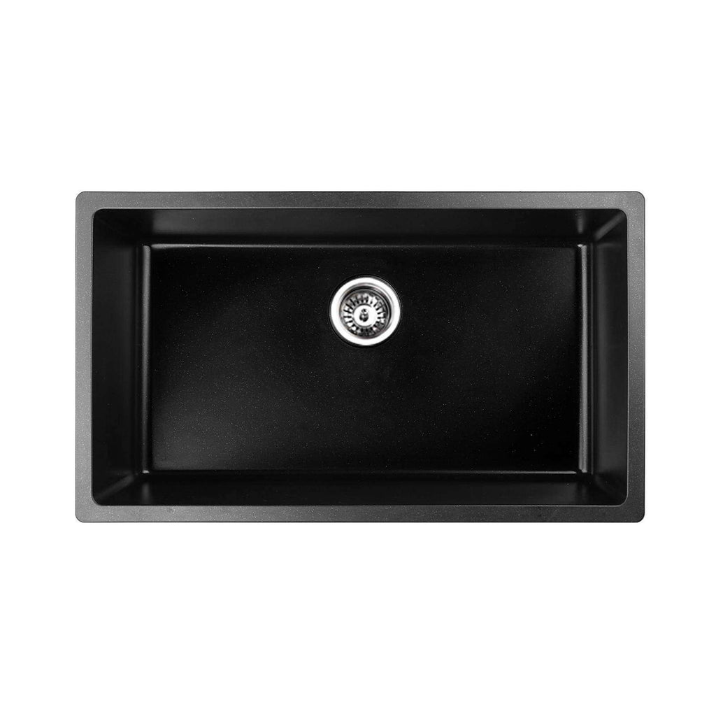 Stone Kitchen Sink Black 790 x 450 - Desirable Home Living
