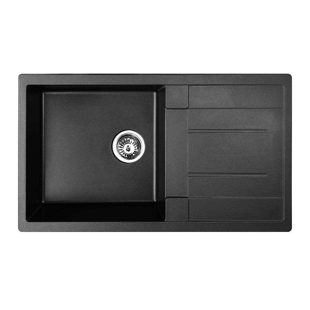 Stone Kitchen Sink Black 860 x 500 - Desirable Home Living