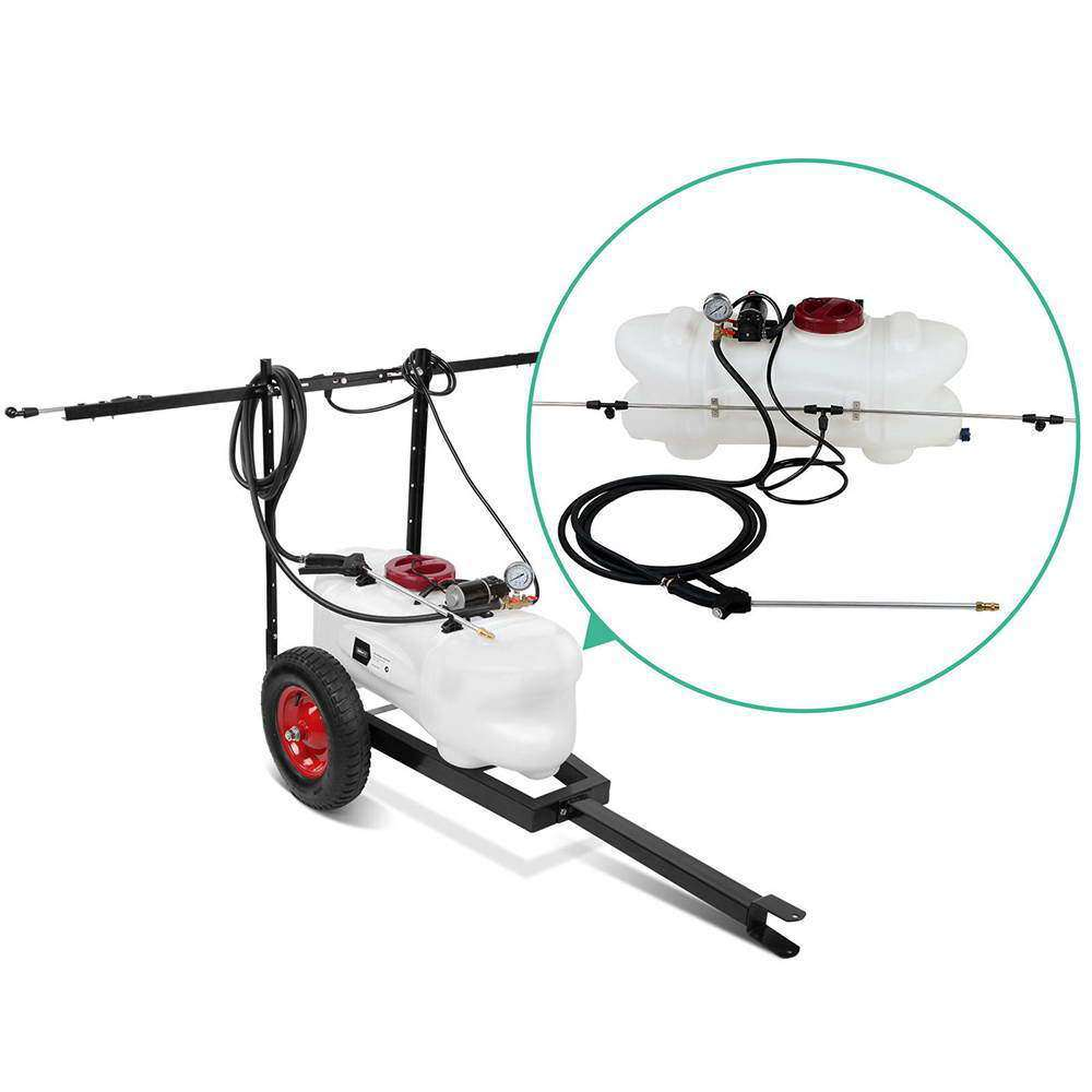 Weed Sprayer 60L Tank With Heavy Duty Trailer & Rear Boom - Desirable Home Living