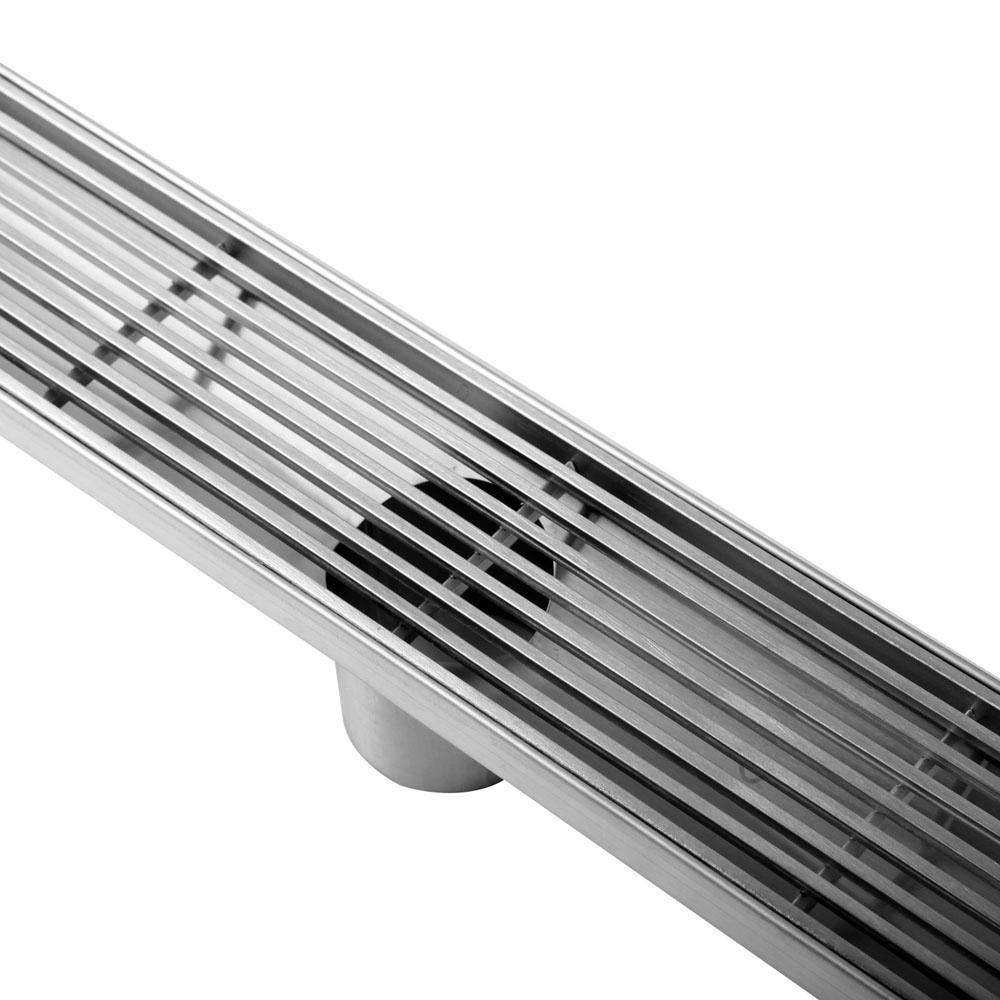 Heelguard Stainless Steel Shower Grate Drain Floor Bathroom 900mm - Desirable Home Living