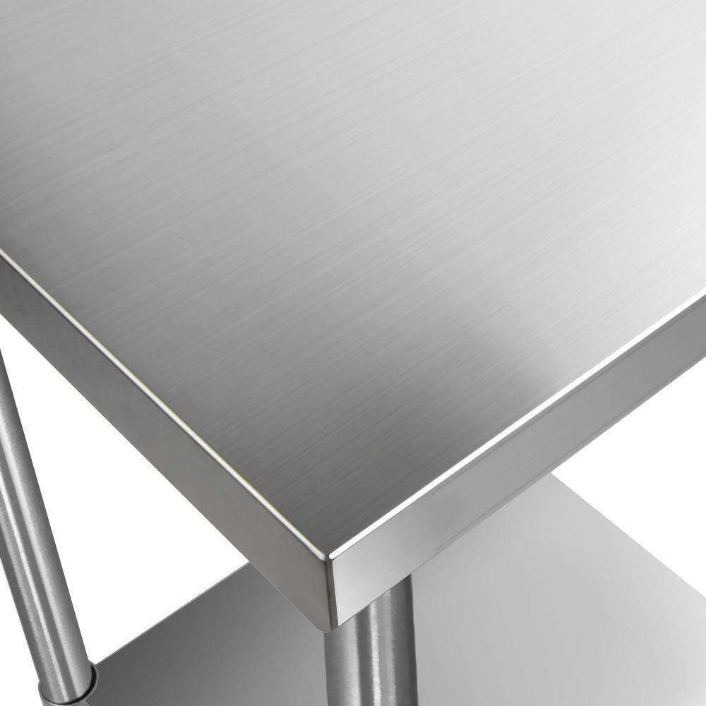 430 Stainless Steel Kitchen Work Bench Table 610mm - Desirable Home Living