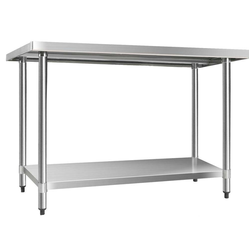 430 Stainless Steel Kitchen Work Bench Table 1219mm - Desirable Home Living