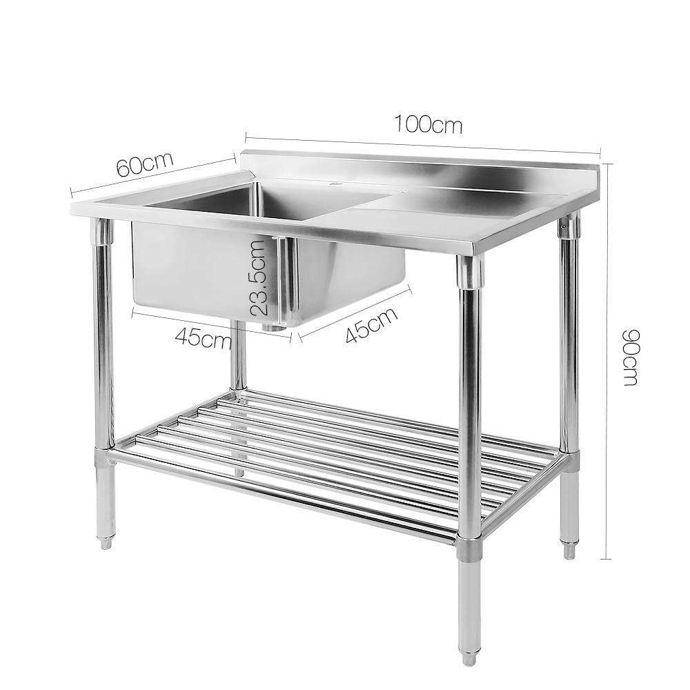 Stainless Steel Sink Bench 100X60 - Desirable Home Living