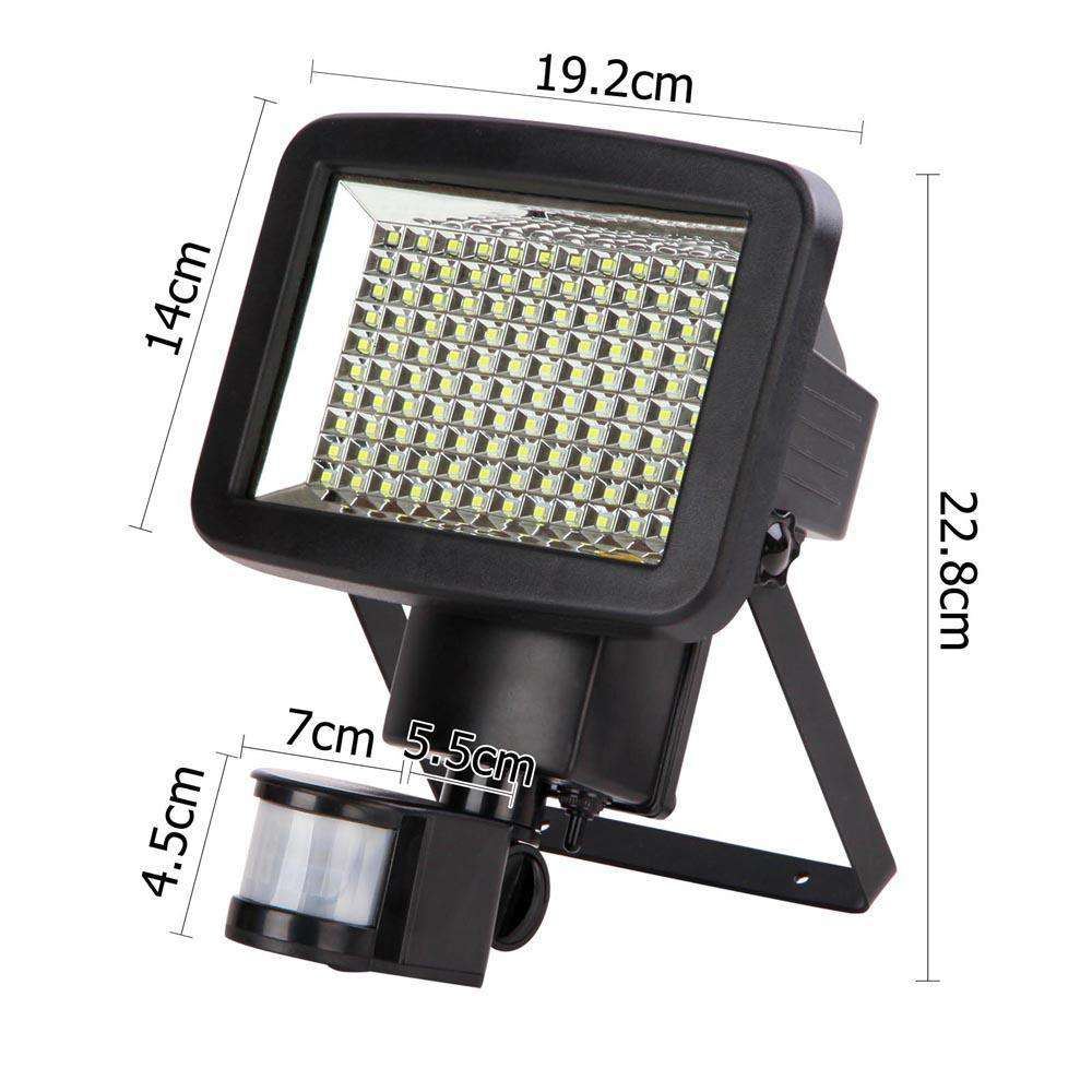 Set of 2 120 LED Solar Sensor Outdoor Light - Desirable Home Living