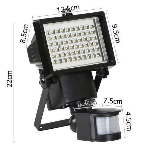 Set of 2 60 LED Solar Sensor Outdoor Light - Desirable Home Living
