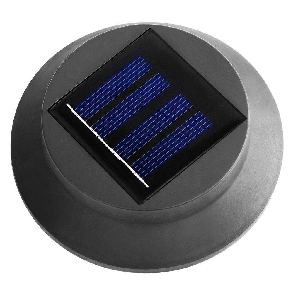 4 x Solar Gutter Light - Black - Desirable Home Living