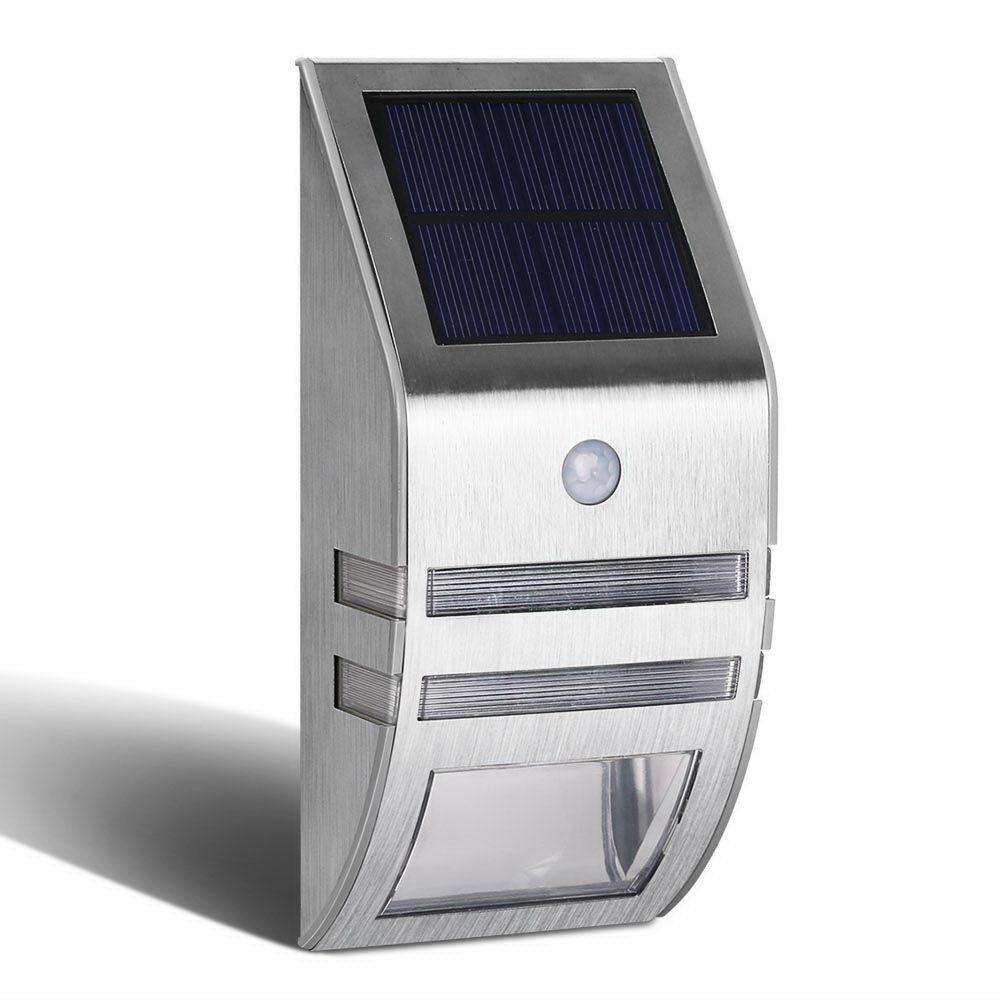 Set of 4 LED Solar Sensor Outdoor Light