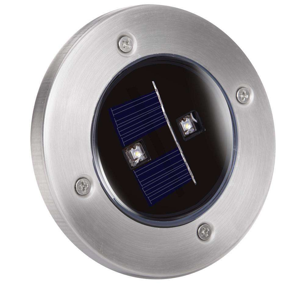 Set of 6 LED Solar Powered Garden Ground Light - Desirable Home Living