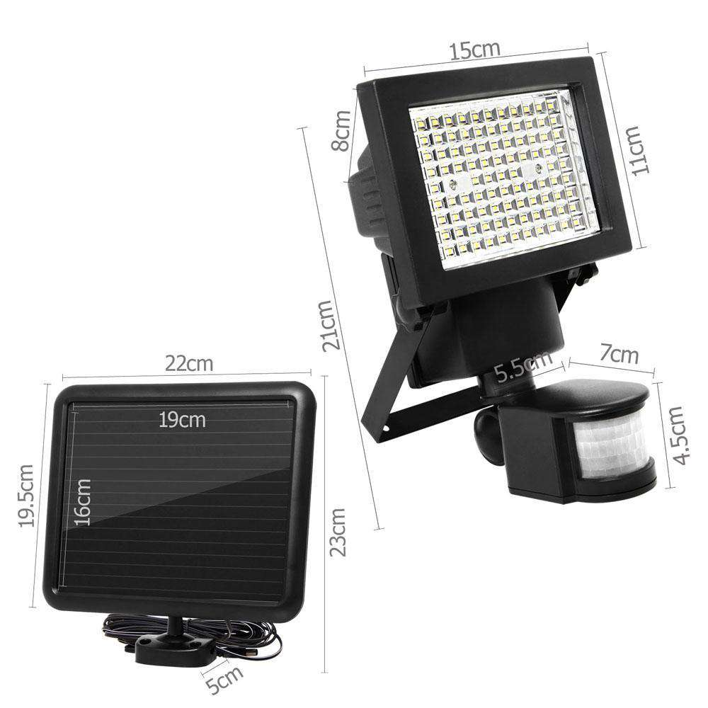 100 LED Solar Sensor Light - Desirable Home Living