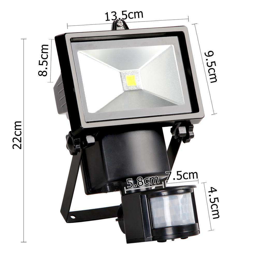 Set of 2 5W COB LED Solar Security Lights - Desirable Home Living