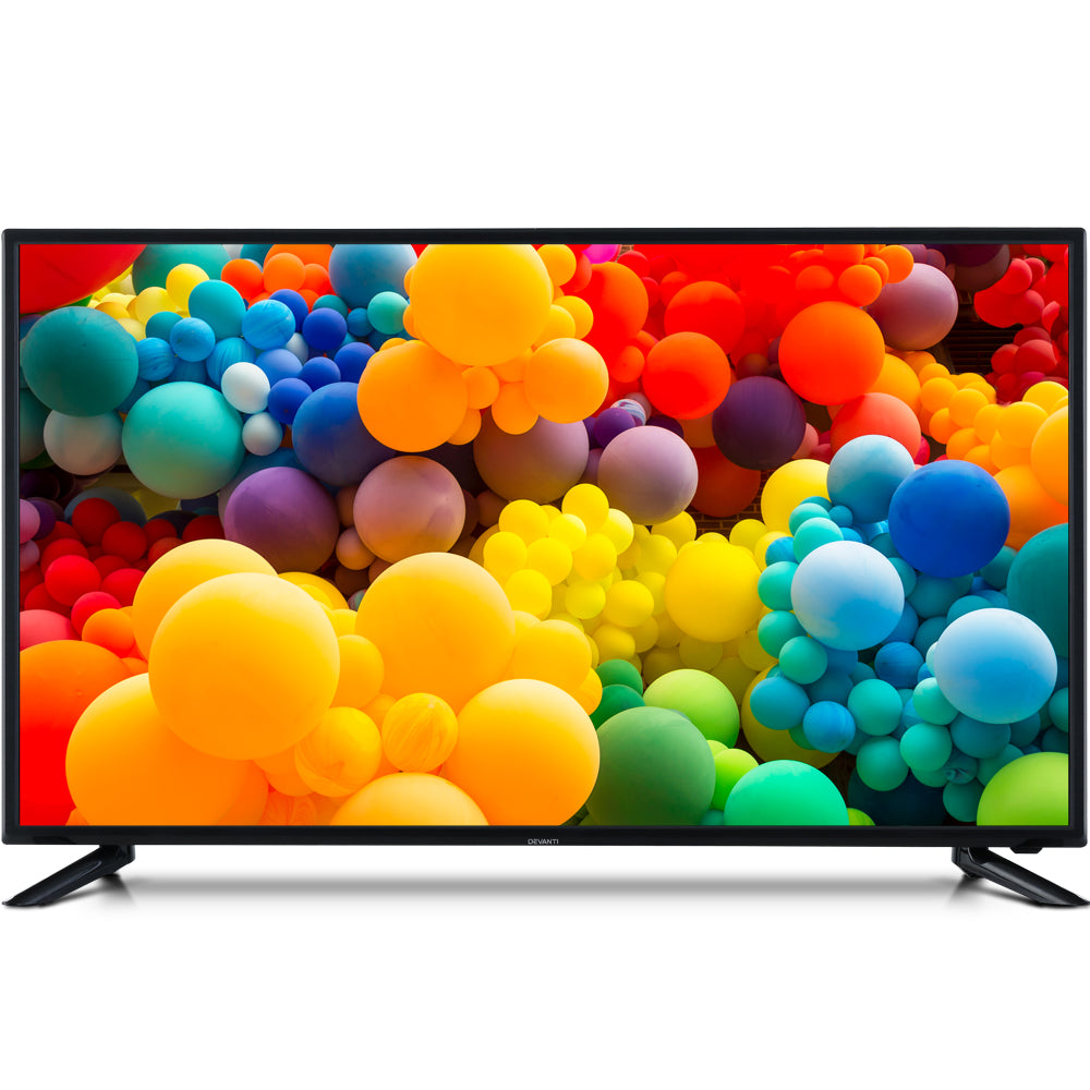NEW DEVANTI 32 Inch Smart LED TV HD LCD Slim Thin Screen Netflix Black 16:9""