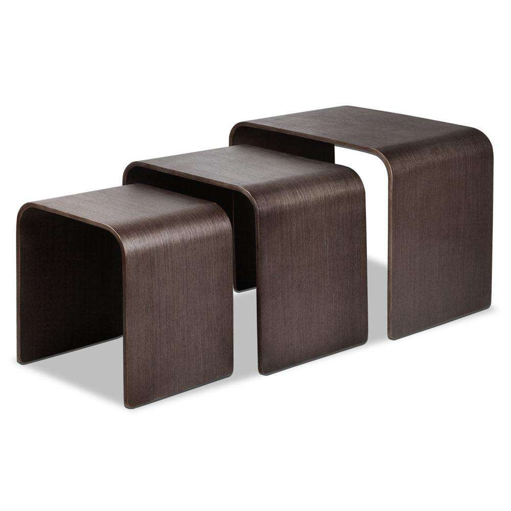 Set of 3 Nesting Tables - Wood