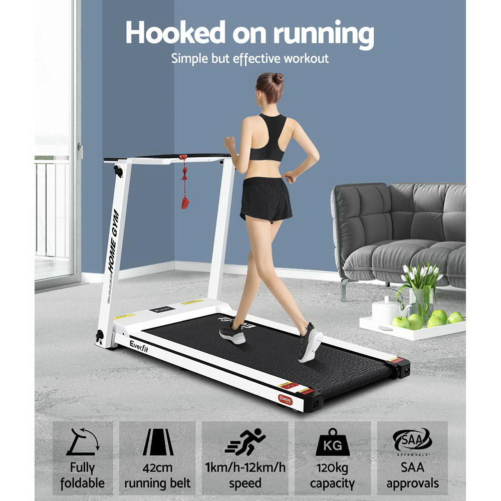 Everfit Electric Treadmill 420mm Belt White