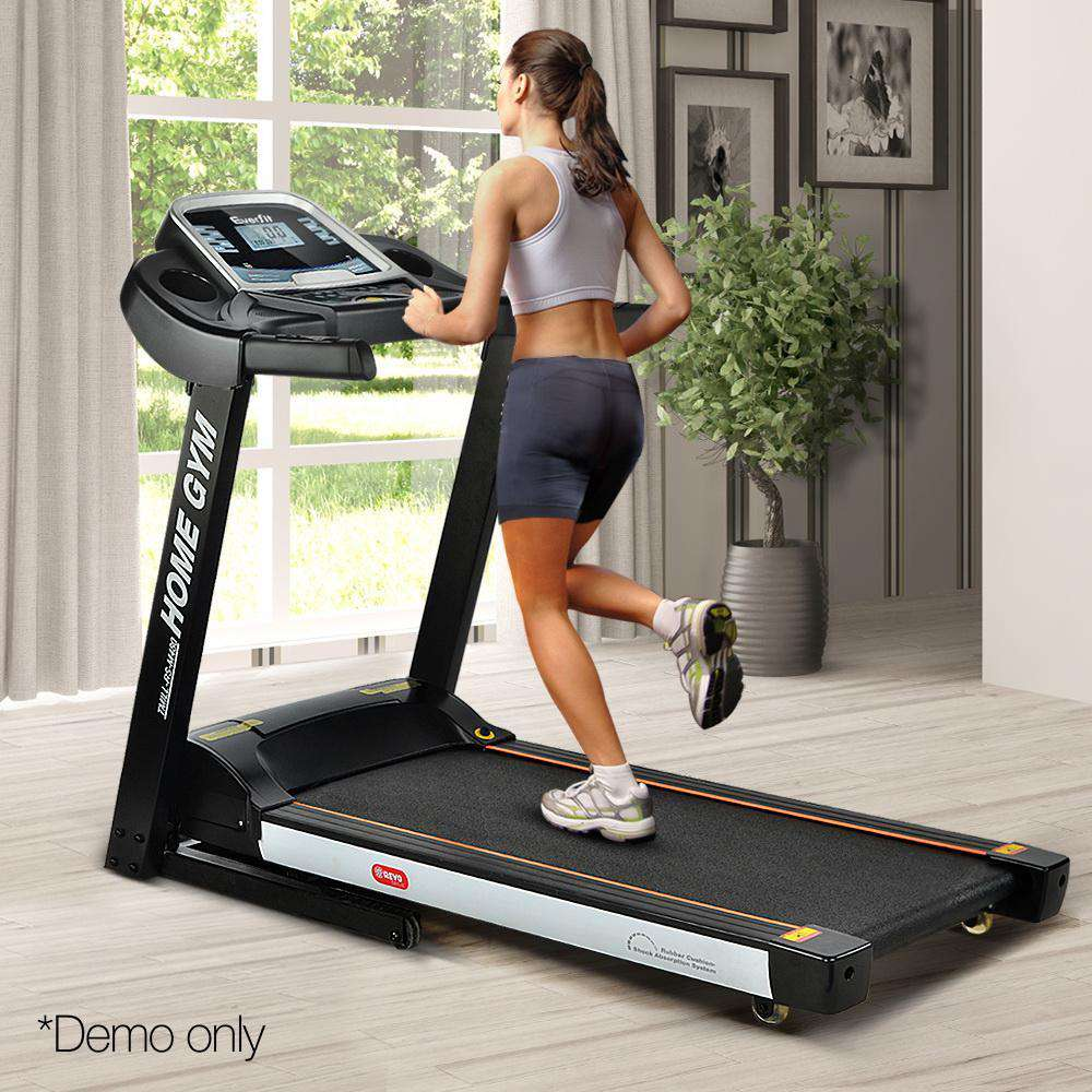Home Electric Treadmill - Black and White