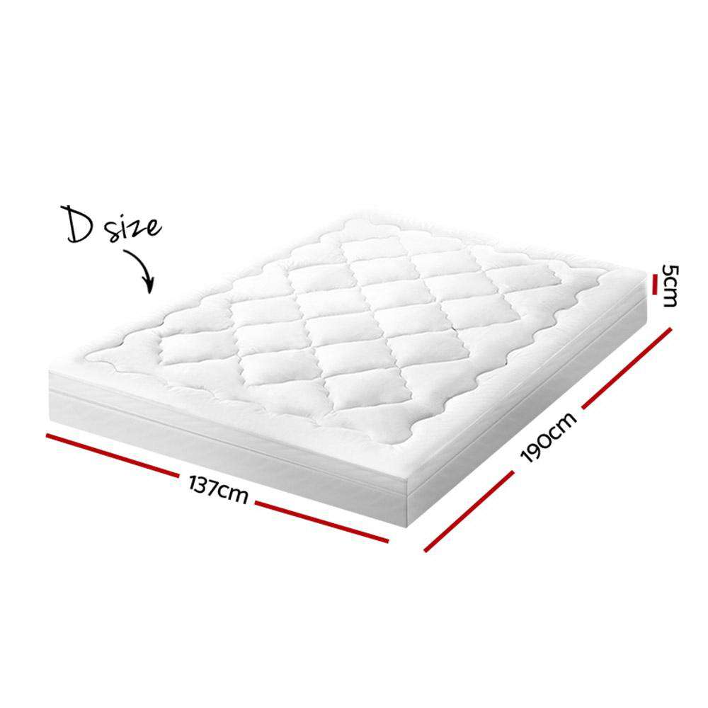 Giselle Bedding Pillowtop Mattress Topper Protector 1000GSM Double