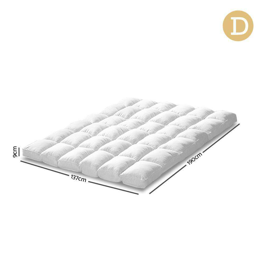 Giselle Bedding Double Size Duck Feather Down Mattress Topper