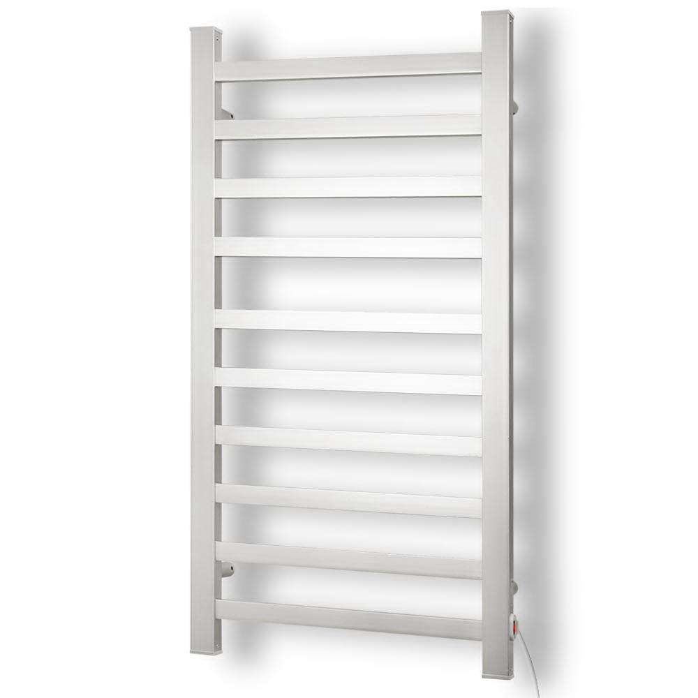 DEVANTI Electric Heated Ladder Towel Rails Bathroom Dryer Clothes Warmer 10 Racks Square Bars Rungs