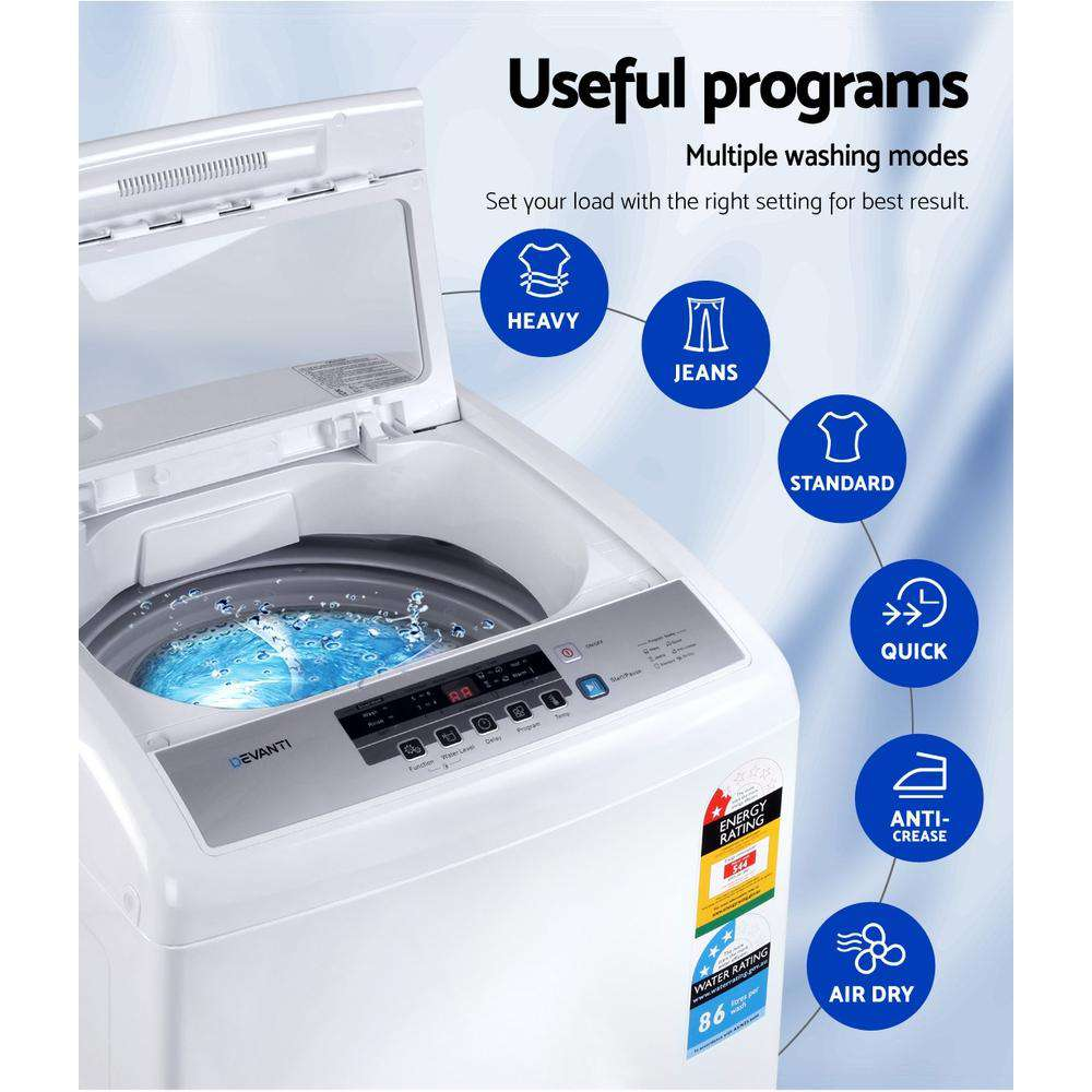 Devanti 7kg Top Load Washing Machine