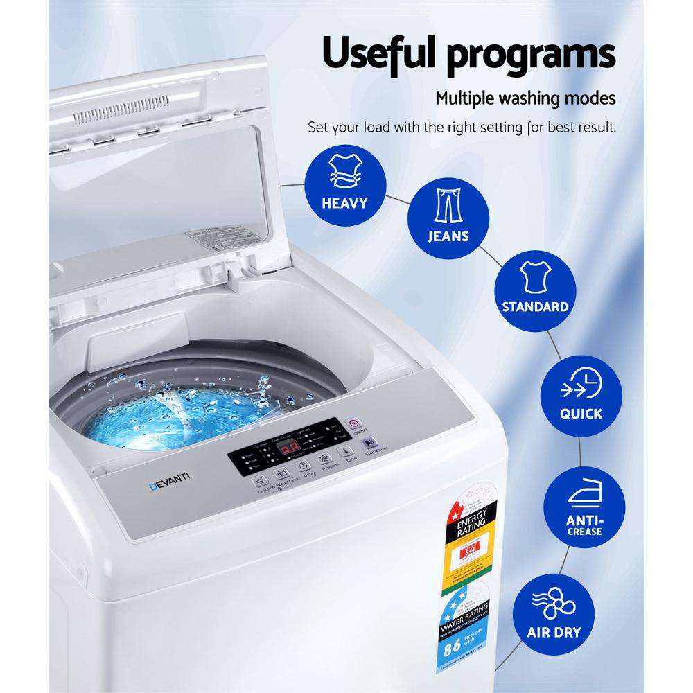 Devanti 8.5kg Top Load Washing Machine