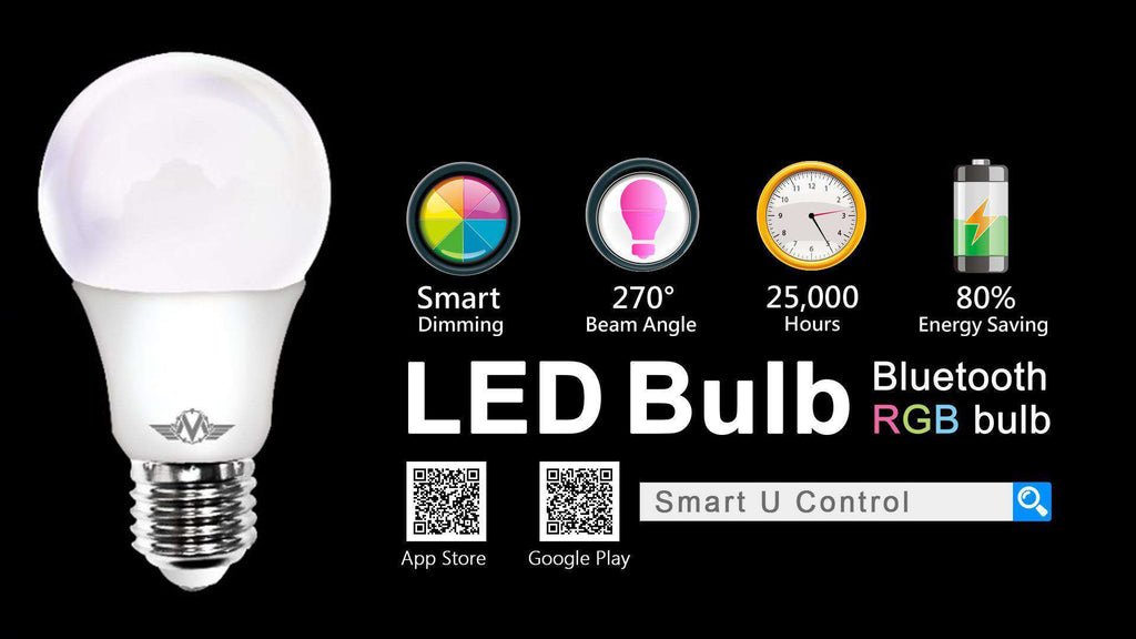 MV SMART BULB 9W E27 TWIN PACK - Desirable Home Living