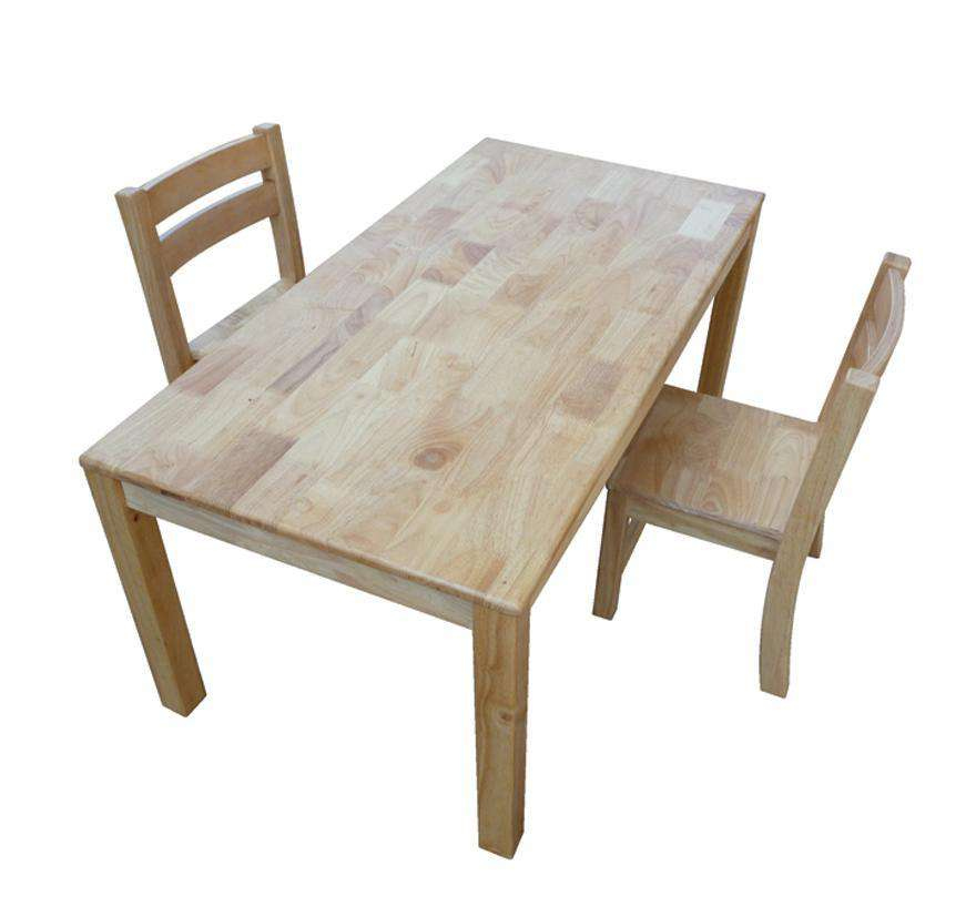 Rubberwood Rectangle Table 120 - Desirable Home Living