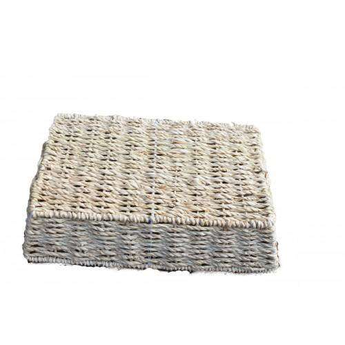 Set Of 3 Rectangular Seagrass Baskets - Desirable Home Living